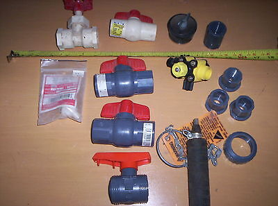 Plumbing Lot Cherne Test Ball Ball Valves Misc Fittings Sch. 80 And Sch. 40