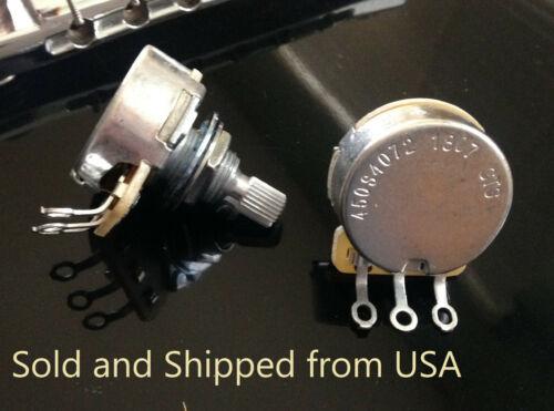CTS 500K SHORT (Full Size) Split Shaft Audio Taper Pot  - 1X (SINGLE) US SELLER