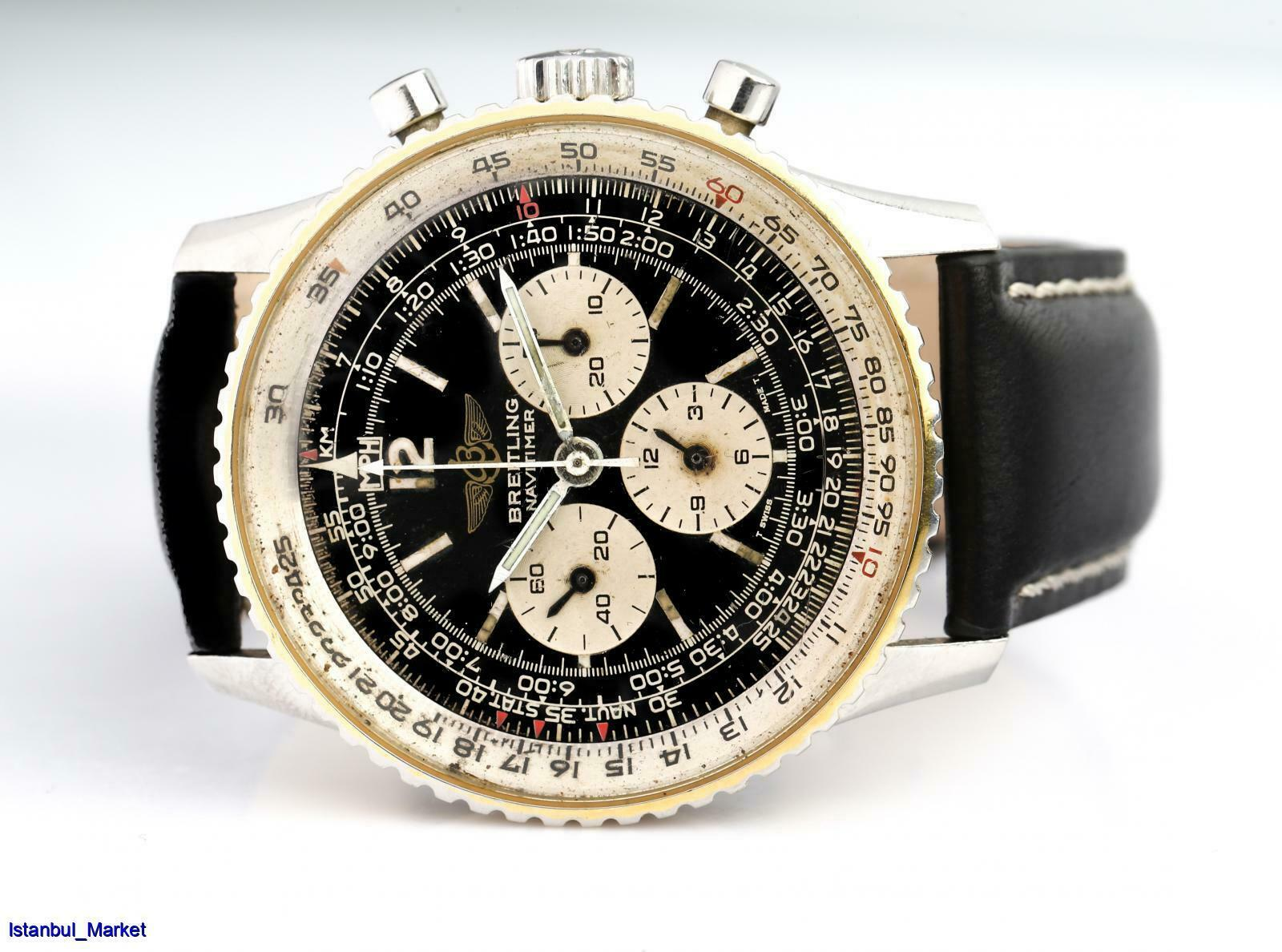 BREITLING Navitimer Vintage Ref#81600 Manual Winding Chronograph 80's Wristwatch - watch picture 1