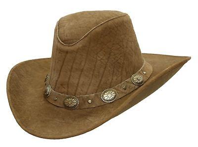 Kakadu Leder (Kakadu Cowboy | Western | Lederhut Razorback- hoher Block mit formbarer Krempe)