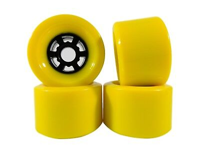 Blank Pro 83mm x 52mm Longboard Wheels Yellow Flywheels