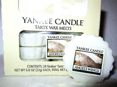 """Box Lot of 24 Yankee Candle """"ANGEL'S WINGS"""" Festive Scented Tarts Wax Melts"""