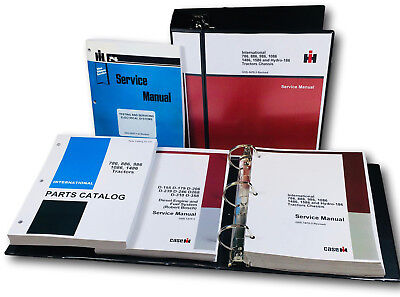 International 886 Tractor Service Parts Manual Set D-358 Engine Sn 14472 Up