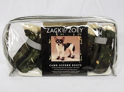 Zack and Zoey Oxford Dog Boots Small Camo/Green 4 Boots Nylon NEW ()