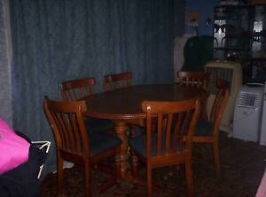 7 Piece Extendable Dining Table & chairs Woodenbong Tenterfield Area Preview