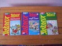 3 x ASTERIX comic books - Magazine size. Books 7, 23 + 30 Gracemere Rockhampton City Preview