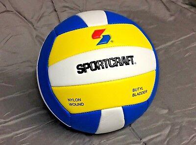 Sportcraft Volleyball Ball -Official Size & Weight -Nylon wound -Butyl Blatter