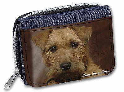 Lakeland Terrier Dog 'Love You Mum' Girls/Ladies Denim Purse Wallet, AD-LT2lymJW