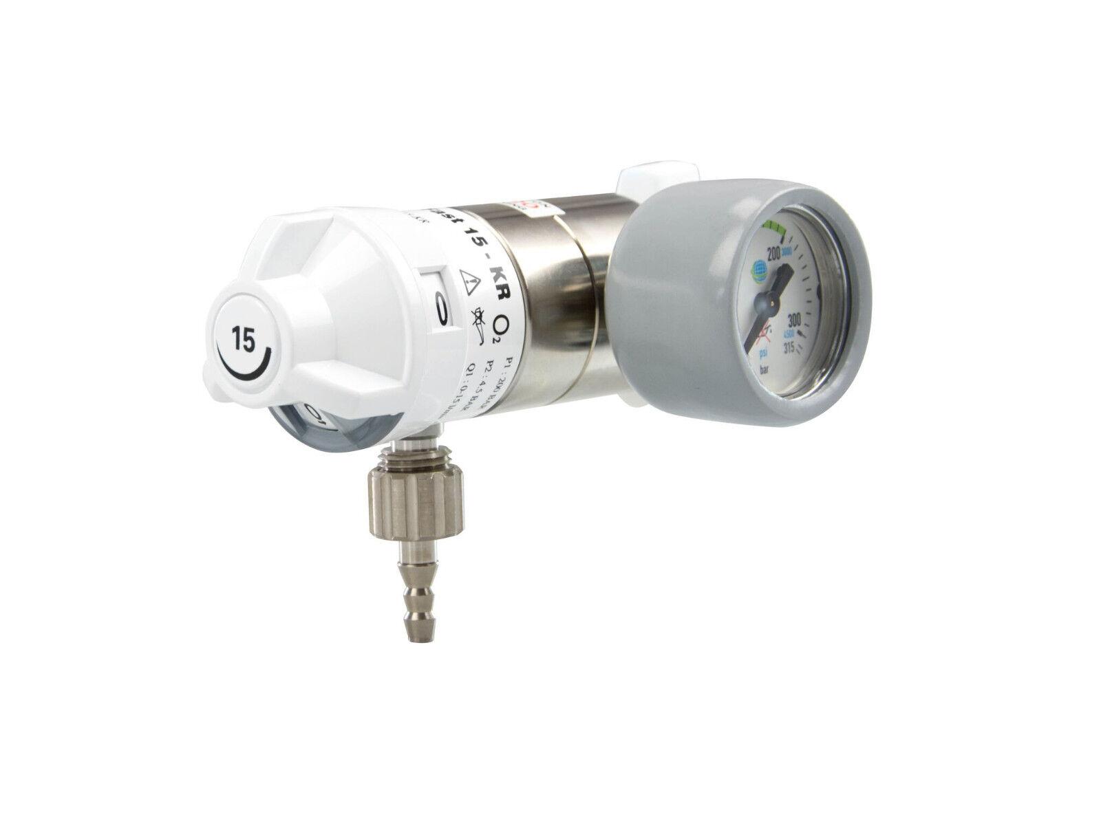AEROway Sauerstoff-Druckminderer 0-15 l/min (Sauerstoffflasche Taucher Notfall)