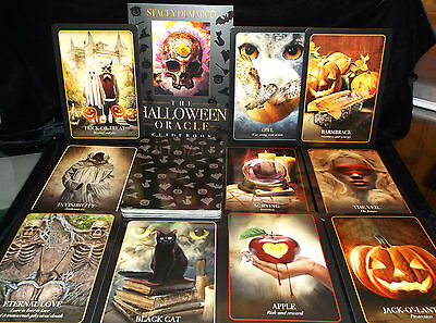 BRAND NEW & SEALED! HALLOWEEN ORACLE CARDS & BOOK SAMHAIN FESTIVAL OF THE DEAD
