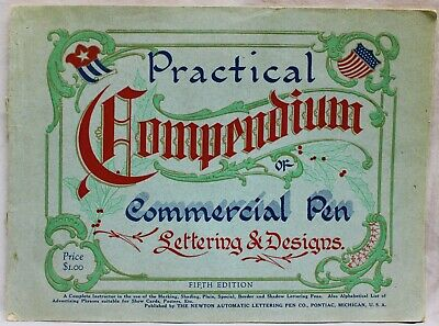COMMERCIAL PEN LETTERING CATALOG 1923 VINTAGE THE NEWTON PEN LETTERING COMPANY