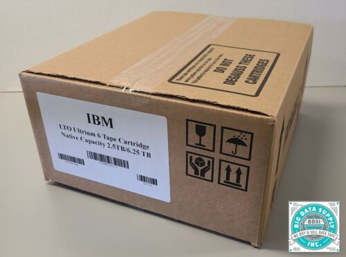 IBM, LTO-6 Tape Media, P/N 00V7590 (Qty. 20 Piece)
