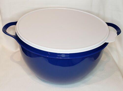 Tupperware Thatsa Bowl Mega 42 Cups 10 L Mixing, Store, Serve - NEW!  Blue