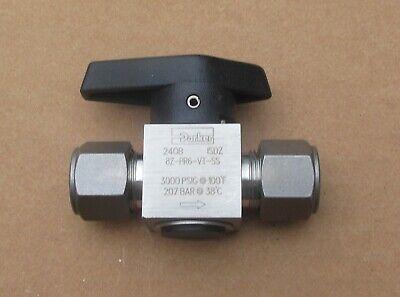 Parker 12 Stainless Steel Rotary Plug Valve 8z-pr6-vt-ss Several Avail New