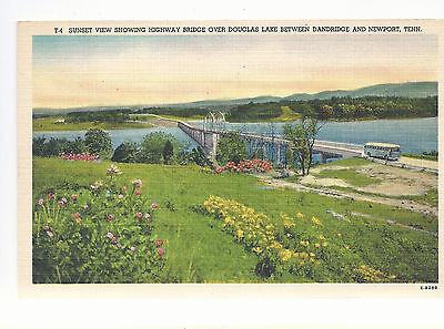 Bridge Over Douglas Lake Between Danbridge   Newport Tn  Unused  Postcard 1043