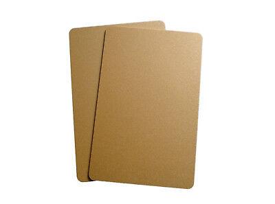 Zebra Plastikkarte Drucker (100 Plastikkarten gold 1/1 Kartendrucker PVC Zebra CR 80 Magnetkarten Ausweise)
