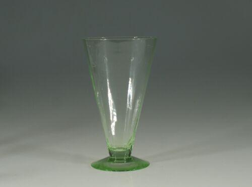 Vintage Deco Vaseline Green Glass Ice Tea Tumbler c.1930