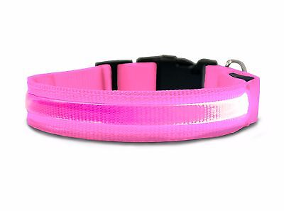 Furhaven Pet Products Large Glowing LED Light Collar for Dogs Pink - Glow Led Products