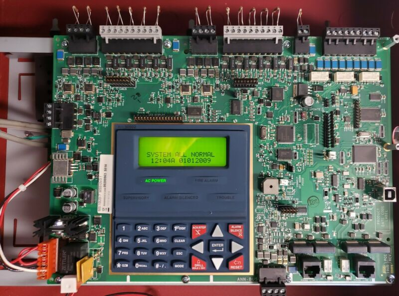 FIRE-LITE MS-10UD-7 MAIN MOTHERBOARD WITH POWER SUPPLY.