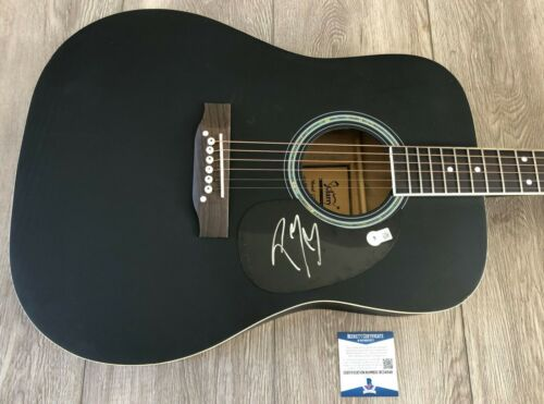 """POST MALONE SIGNED AUTOGRAPH 41"""" ACOUSTIC GUITAR w/PROOF & BAS BECKETT COA"""