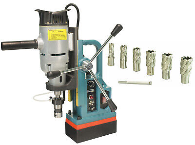 Steel Dragon Tools Md45 Magnetic Drill Press With 7pc 1 Hss Cutter Kit