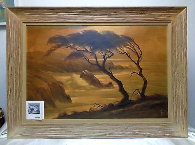 Listed California Artist Alfred Dupont Estate Antique Original Oil Painting