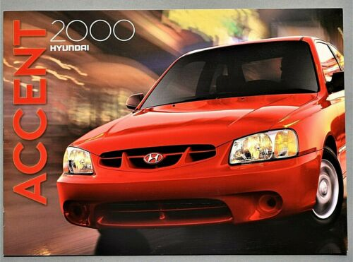 "ORIGINAL 2000 HYUNDAI ACCENT SALES BROCHURE ~ 16 PAGES ~12.25"" X 8.75"" ~16A"