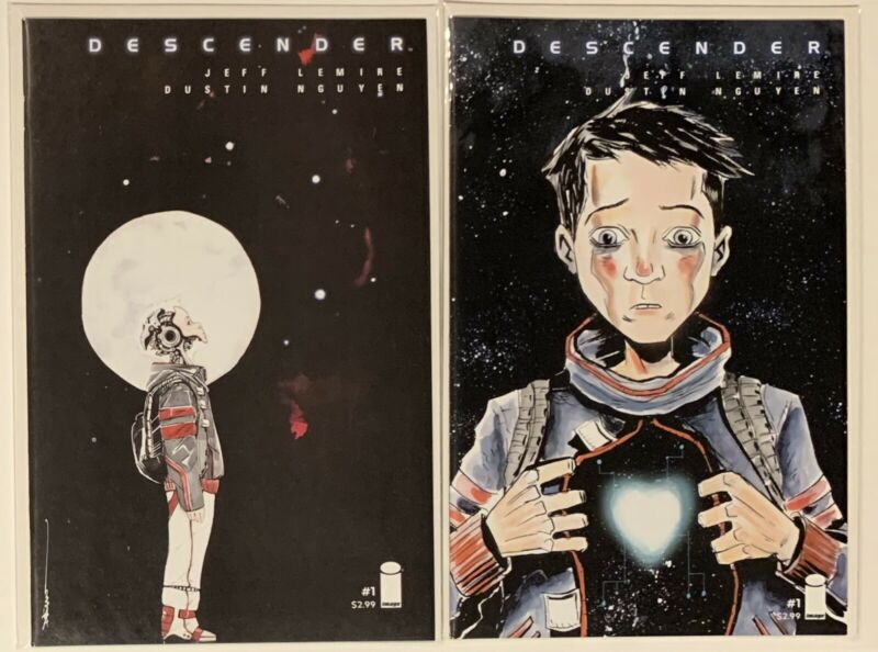 DESCENDER #1 COVER A & B BOTH COVERS IMAGE COMIC BOOK JEFF LEMIRE • NM+ BETTER