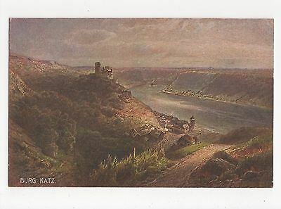 Germany, Burg Katz Art Postcard, A598