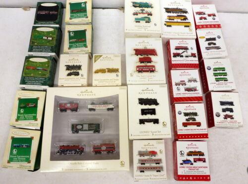 YF Hallmark Lionel Train Mini Ornaments - Full Set 1999 - 2020 + Extras, Boxed