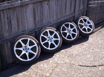 chrome wheels 17 inch 4x100 Mowbray Launceston Area Preview