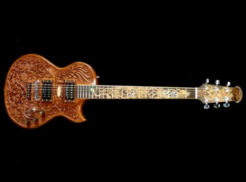 Blueberry Special Order Handmade Electric Guitar Celtic Dragon 90 Day Delivery