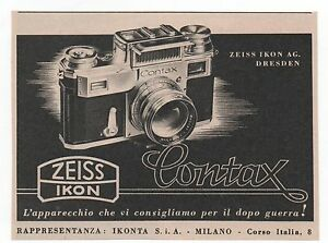 Pubblicita-epoca-1943-CONTAX-ZEISS-IKON-FOTO-advert-werbung-publicite-reklame