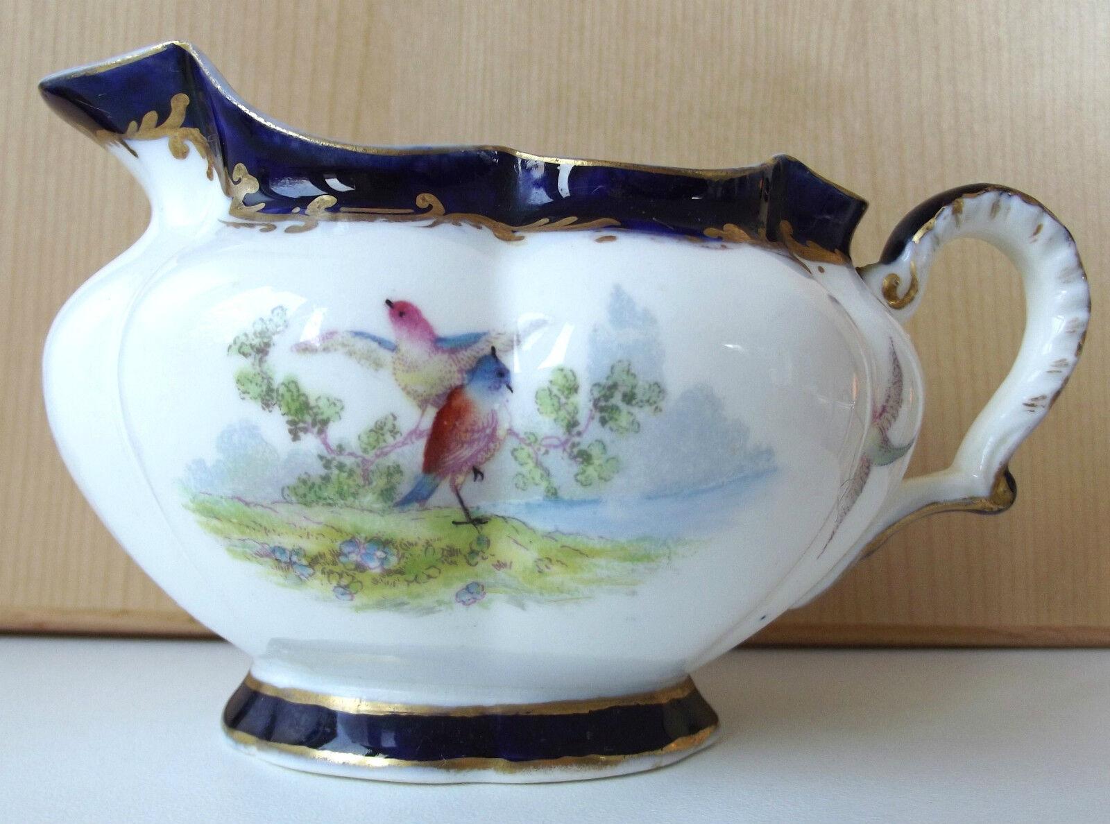 Antique jug Crescent China George Jones BIRDS Art Nouveau Victorian Edwardian