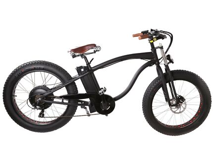 Electric Springer Fat Bike 35km/h 250W Shimano Gears Suspension