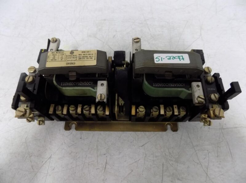 GENERAL ELECTRIC SIZE 1 3 PH CONTACTOR CR109CO