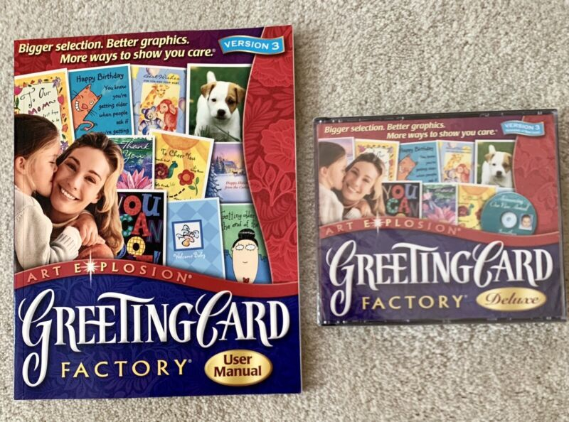 Greeting Card Factory Deluxe, New without Box