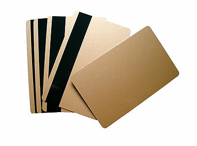 50 Magnetkarten LoCo gold Plastikkarten Tankkarten Kundenkarten HiCo Ausweise