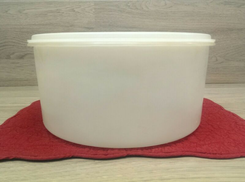 Vintage Tupperware Cake Taker Keeper 256-1 Round With Lid 224-5 Clear