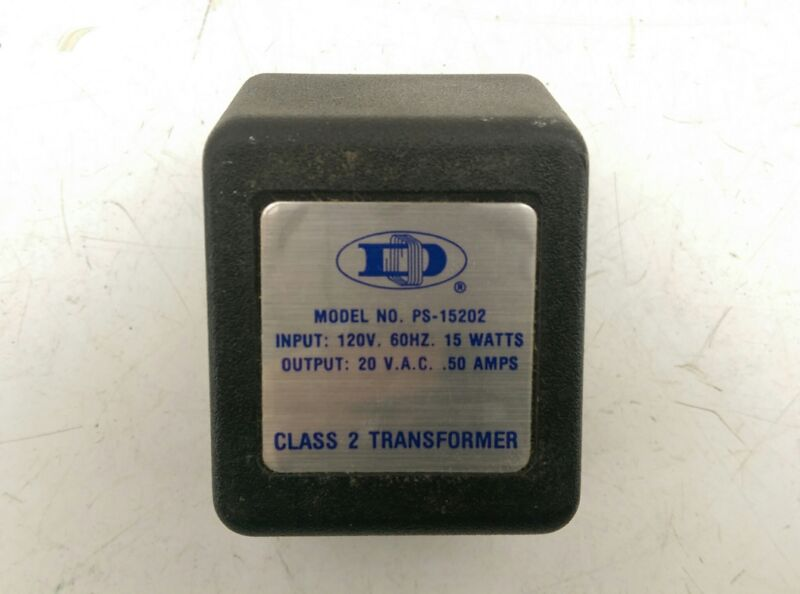 Dormeyer Industries PS-15202 20 VAC .50 AMPS Class 2 Plug-In Transformer