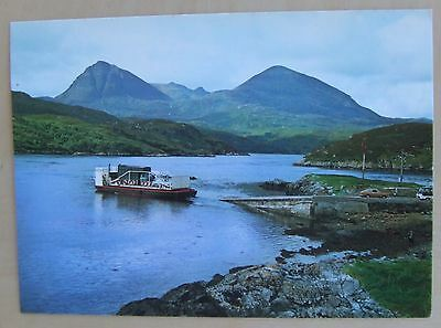 Kylesku Ferry and Quinag Sutherland across Loch Cairnbawn postcard