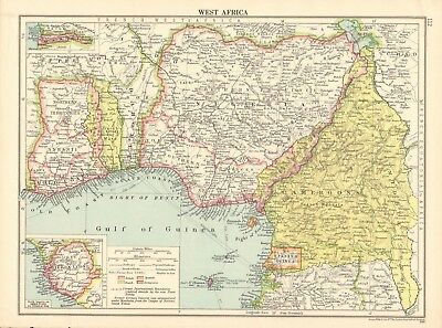 1925 ca MAP - WEST AFRICA, INSET SIERRA LEONE