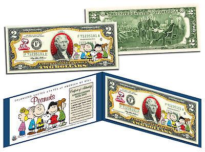 PEANUTS * Charlie Brown & Gang * Legal Tender U.S. $2 Bill * LICENSED * Snoopy