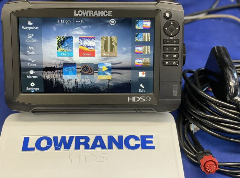 Lowrance HDS 9 Gen 3 GPS Chartplotter Fish Finder Sonar Display W/ Accessories