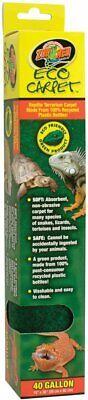 "Zoo Med Eco Carpet 40 Gallon Size 15x36"" Terrarium Liner for Reptiles"