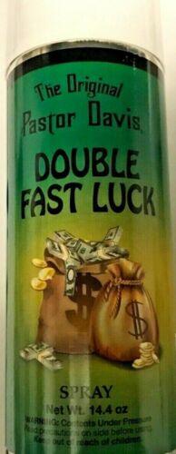 Double Fast Luck Dr. Pastor Davis 14 Oz. Aerosol Spray Wicca Famous Doble Suerte