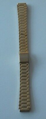Gold colour Stainless Steel Watch Mesh Band/Strap Bracelet.Width 12mm 2 piece.