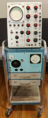 Vintage Tektronix Type 535a Oscilloscope W Type 500a Mobile Stand Accessories