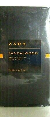 ZARA SANDALWOOD EAU DE TOILETTE FOR MEN SPRAY 3.4 Oz / 100 ml DISCONTINUED ITEM!