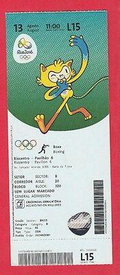 Orig.Ticket  Olympische Spiele RIO DE JANEIRO 2016 - BOXEN  13.08.  !!  SELTEN